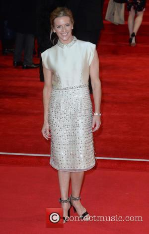 Gaby Logan - Royal film performance of 'Spectre' at Royal Albert Hall at Royal Albert Hall - London, United Kingdom...