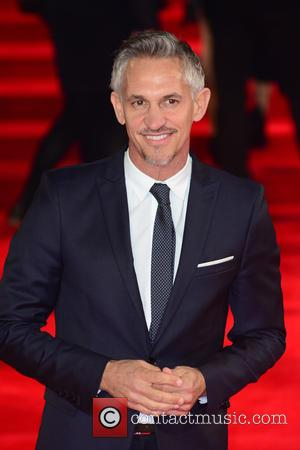 Gary Lineker - Royal film performance of 'Spectre' at Royal Albert Hall - Red Carpet Arrivals at Royal Albert Hall...