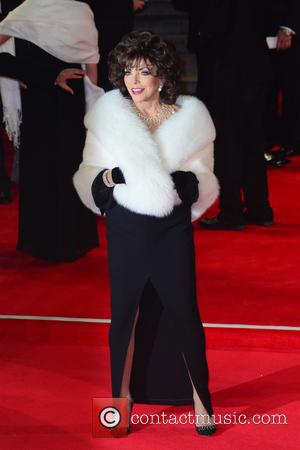 Dame Joan Collins - Royal world premiere of 'Spectre' at Royal Albert Hall - Red Carpet Arrivals at Royal Albert...