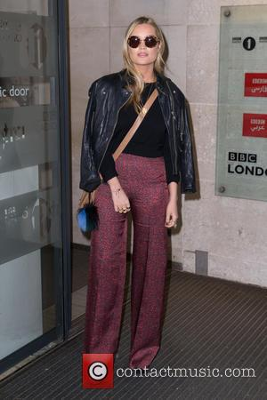 Laura Whitmore - Laura Whitmore pictured arriving at the Radio 1 studio to appear as a guest on the Nick...
