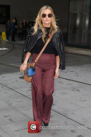 Laura Whitmore - Laura Whitmore pictured leaving the Radio 1 studio after appearing as a guest on the Nick Grimshaw...