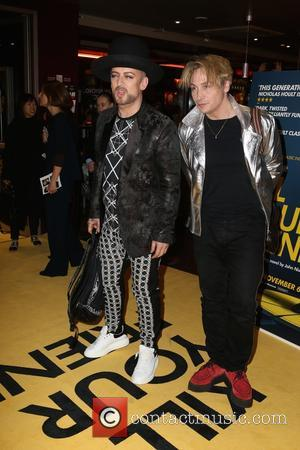 Boy George - Guest arrivals at Kill Your Friends Screening at Curzon, Soho - London, United Kingdom - Tuesday 27th...