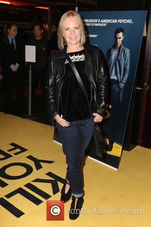 Mariella Frostrup - Guest arrivals at Kill Your Friends Screening at Curzon, Soho - London, United Kingdom - Tuesday 27th...