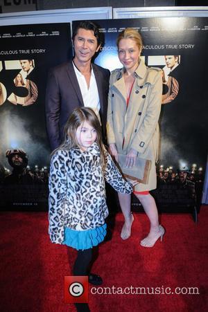 Lou Diamond Phillips, Yvonne Boismier Phillips , Indigo Sanara Phillips - Washington DC premiere of 'The 33' at the Newseum...