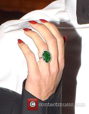 Emma Rhys-Jones - Gareth Bale and pregnant partner Emma Rhys-Jones, seen wearing a large green jewelled ring on her ring...