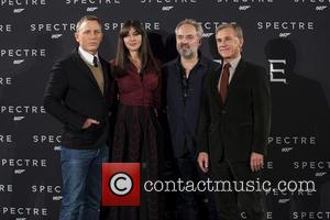 Daniel Craig, Monica Bellucci, Sam Mendes and Christoph Waltz