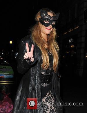 Lindsay Lohan - Celebrities attend Fran Cutler's Halloween Party at Cuckoo Club - London, United Kingdom - Wednesday 28th October...