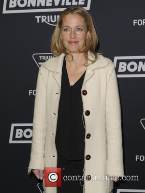gillian anderson - Triumph Bonneville launch party - Arrivals - London, United Kingdom - Wednesday 28th October 2015
