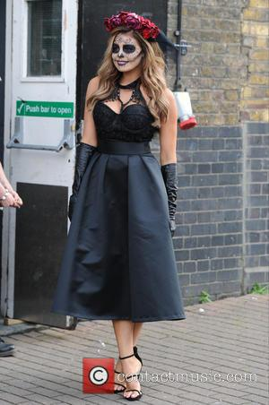 Jessica Wright - The Only Way Is Essex cast seen out in London filming for their Halloween. - London, United...