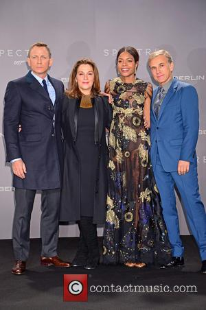 Daniel Craig, Barbara Broccoli, Naomie Harris and Christoph Waltz