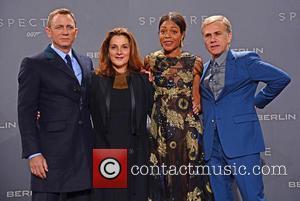 Daniel Craig, Barbara Broccoli, Naomie Harris , Christoph Waltz - German premiere of James Bond 007 Spectre at CineStar movie...