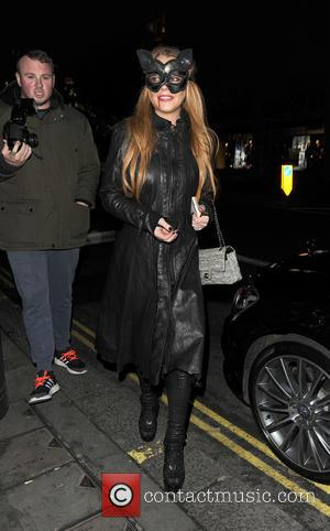 Lindsay Lohan - Celebrities attending various Halloween parties all over London - London, United Kingdom - Wednesday 28th October 2015