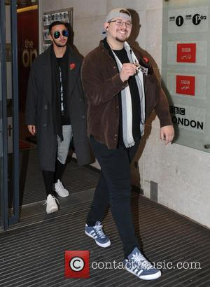 Che Chesterman , Mason Noise - X Factor final Boys seen at BBC Radio 1 studios in London at x...