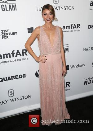 Sarah Hyland - Celebrities attend 2015 amfAR's Inspiration Gala Los Angeles at Milk Studios. at Milk Studios - Los Angeles,...