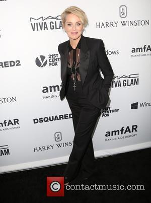 Sharon Stone - Celebrities attend 2015 amfAR's Inspiration Gala Los Angeles at Milk Studios. at Milk Studios - Los Angeles,...