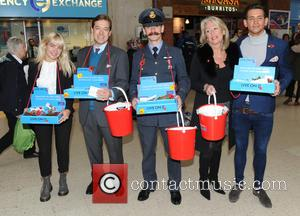 Ollie Locke - Members of the Made in Chelsea cast serve Poppy cupcakes to hardworking uniformed collectors and join in...