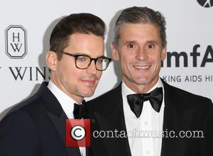 Matt Bomer , Simon Halls - Celebrities attend 2015 amfAR's Inspiration Gala Los Angeles at Milk Studios. at Milk Studios...
