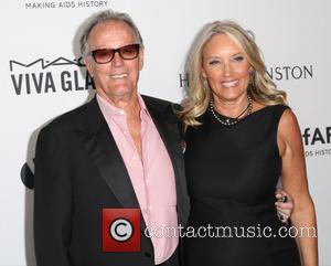 Peter Fonda , Parky Devogelaere - Celebrities attend 2015 amfAR's Inspiration Gala Los Angeles at Milk Studios. at Milk Studios...