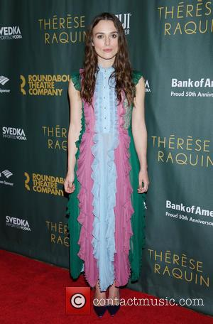 Keira Knightley wearing Gucci - Opening night after party for Broadway play Therese Raquin at Studio 54 - Arrivals. at...