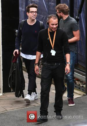 Nick Grimshaw - 'X Factor' judges arrive at live show rehearsals at x factor - London, United Kingdom - Thursday...