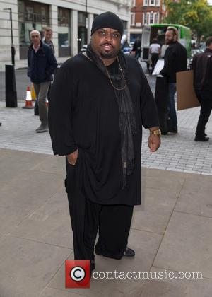 CeeLo Green - CeeLo Green pictured arriving at the Radio 1 studio at BBC Portland Place - London, United Kingdom...