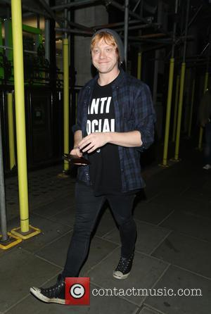 Rupert Grint - Rupert Grint out and about in Soho by himself wearing a t-shirt reading