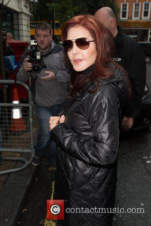 Priscilla Presley - Priscilla Presley arriving at the BBC Radio 2 studios at BBC Portland Place - London, United Kingdom...