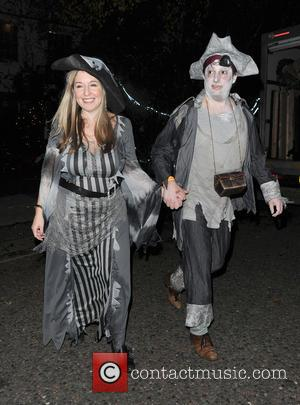 David Mitchell , Victoria Coren Mitchell - Celebrities attend the annual Jonathan Ross Halloween Party, held at his home in...