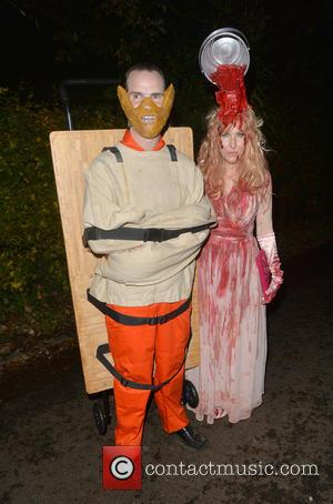 Jimmy Carr , Karoline Copping - Celebrities attend the annual Jonathan Ross Halloween Party, held at his home in Hampstead...