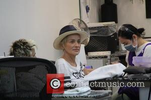 Sharon Stone - Sharon Stone visits a nail salon in Beverly Hills at beverly hills - Los Angeles, California, United...