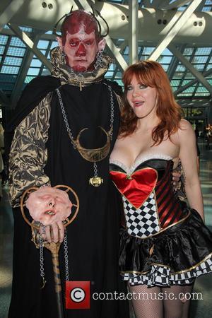 Maitland Ward - Maitland Ward dresses as 'Harley Quinn of Hearts' at Stan Lee's 2015 Comikaze Expo at Los Angekes...