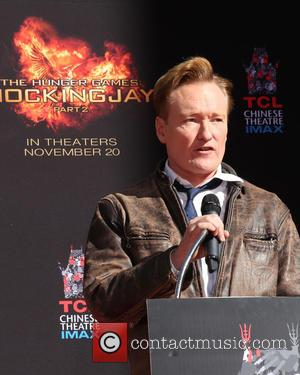 Conan O'Brien - 'The Hunger Games: Mockingjay - Part 2' cast hand and footprint ceremony - Los Angeles, California, United...