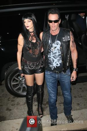 Rande Gerber , Cindy Crawford - Cindy Crawford and Rande Gerber seen arriving at the CasaMigos Tequila Halloween Party at...
