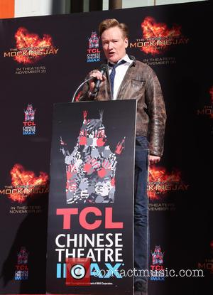 Conan O'Brien - 'The Hunger Games: Mockingjay, Part 2' cast hand and footprint ceremony at TCL Chinese Theater - Hollywood,...