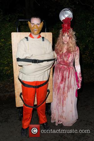 Jimmy Carr , Karoline Copping - Jonathan Ross's annual Halloween party - London, United Kingdom - Saturday 31st October 2015