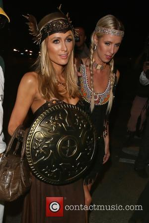 Paris Hilton , Nicky Hilton - Paris and Nicky Hilton seen arriving at the Casamigos Tequila Halloween Party at Casamigos...