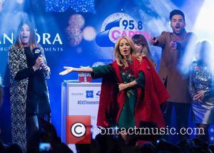 Lisa Snowdon, Kylie Minogue, Louise Rose Allen and Ben Haenow