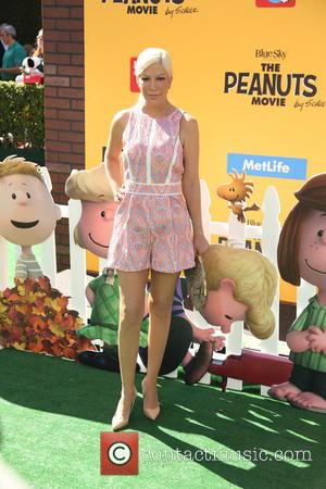 Tori Spelling - Premiere of 'The Peanuts Movie' - Arrivals - Los Angeles, California, United States - Sunday 1st November...