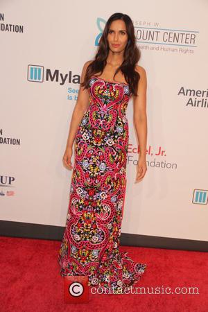 Padma Lakshmi - 14th Annual Elton John AIDS Foundation An Enduring Vision Benefit at Cipriani Wall Street - Arrivals at...