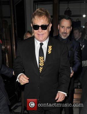 Sir Elton John , Elton John - Sir Elton John is seen leaving The Burberry Film Festival - London, United...