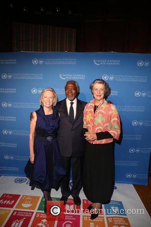 Kathy Calvin, Kofi Annan and Nane Annan