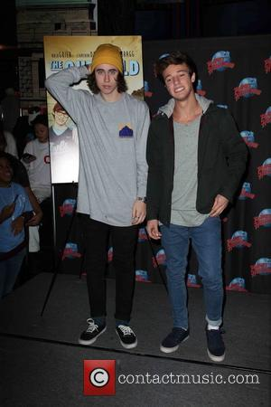Nash Grier , Cameron Dallas - Nash Grier and Cameron Dallas visit Planet Hollywood Times Square to promote their film...