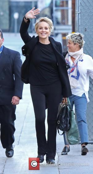 Sharon Stone - Sharon Stone at Jimmy Kimmel Live! studios in Hollywood at Jimmy Kimmel studio - Los Angeles, California,...