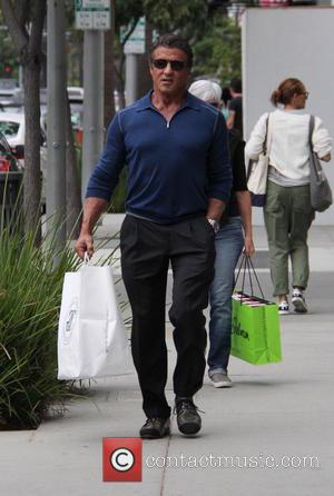 Sylvester Stallone - Sylvester Stallone buys some kitchenware at Williams Sonoma Grand Cuisine in Beverly Hills at beverly hills -...