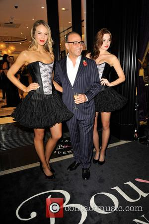 Theo Paphitis , models - Celebrities arrive for the new Boux Avenue store launch party, at new Oxford Street shop...