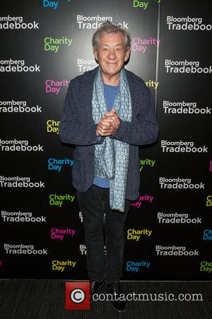 Sir Ian McKellen - Bloomberg Tradebook Charity Day held at Bloomberg HQ, Finsbury Square. - London, United Kingdom - Wednesday...