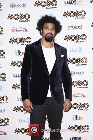 David Haye - Mobo Awards 2015 - Arrivals at Mobo Awards - Leeds, United Kingdom - Wednesday 4th November 2015