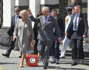 Prince Charles, Camilla , Duchess of Cornwall - Prince Charles and Camilla, Duchess of Cornwall arriving at Dunedin Railway Station...