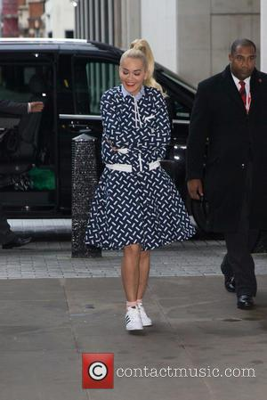 Rita Ora , Sigma - Rita Ora arriving at the BBC Radio 1 studios at BBC Portland Place - London,...