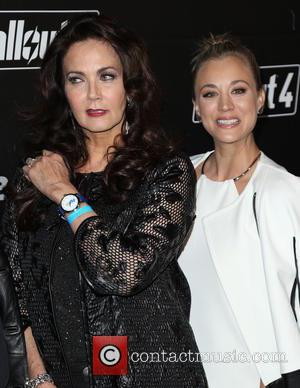 Kaley Cuoco and Lynda Carter
